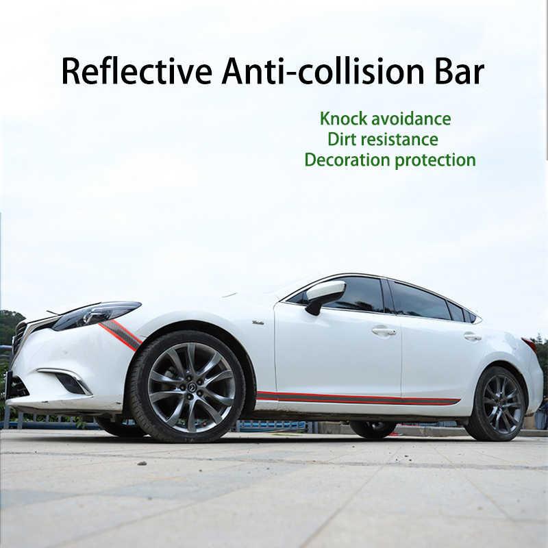 Pintu Mobil Pelindung Bumper Protector Strip Stiker Mobil Carbon Fiber Film Anti-Tabrakan Pintu Sill Protector Mobil Styling