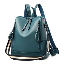 Women's Backpack Pu Leather Black High Quality 2020 Fashion Litchi Soft Back Pack Ladies Trend Backbag Female(China)