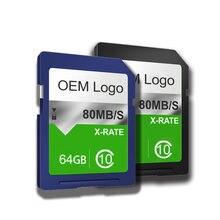 DO CID-tarjeta SD de alta velocidad personalizada, 16GB, 32GB, 64GB, CID, adaptador de navegación de mapa CID de alta gama