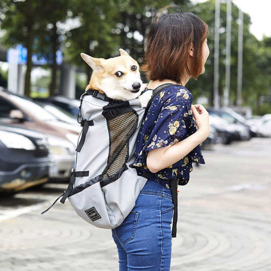 Moda respirável pet cão portador saco para cães grandes golden retriever bulldog mochila ajustável grande cão de viagem animais estimação gatos