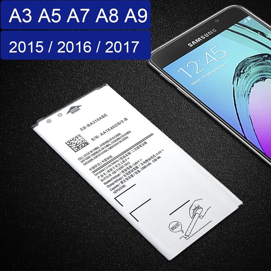 Battery For Samsung A3 A5 A7 2015 2016 2017 Edition A300 A310 A320 A500 A510 A520 A700 A710 A720 EB-BA310ABE For Galaxy A8 A9