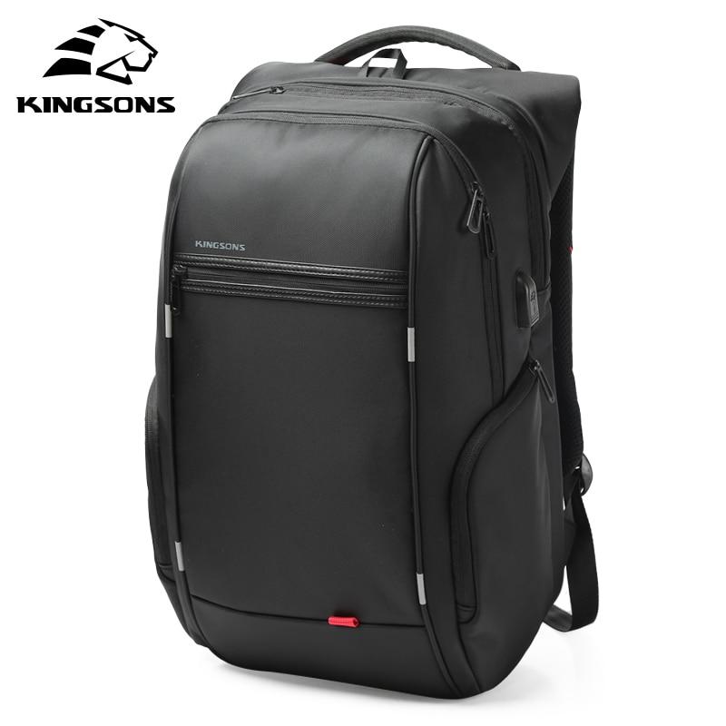 Kingsons Laptop Backpack Teenager Travel Usb-Charger Fashion Men for Male 13'' 15'' 17''