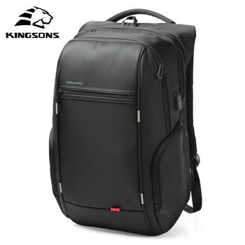 Kingsons Men Backpacks 13'' 15'' 17'' Laptop Backpack USB Charger Bag Anti-theft Backpack for Teenager Fashion Male Travel dide usb charging anti theft leather school backpack bag for teenager fashion male waterproof travel laptop backpack men
