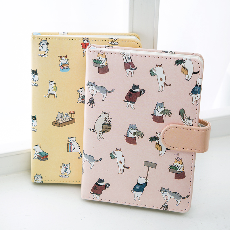 Cartoon Magnetic Buckle Cute Animal Cover Notebook Diary Painting Creative Hand Account Daily Plan Notepad Student Office Supply