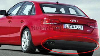 UNPAINTED S4 STYLE REAR DIFFUSER SINGLE PU For AUDI A4 B8 2008-2012  A008F 1