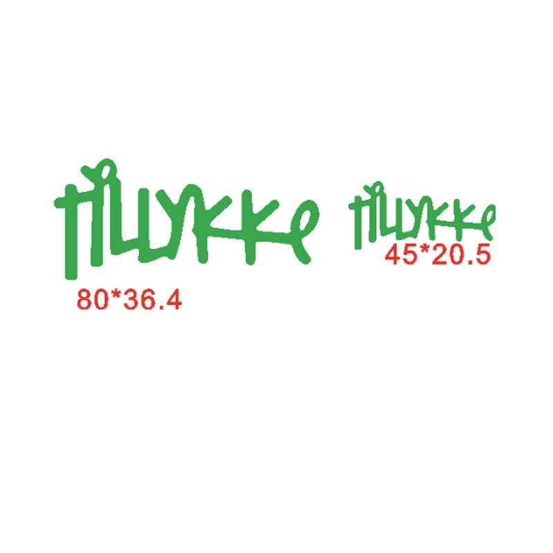 Tillykke Danish Word Die Cuts For Card Making Danish Word Tillykke Dies Scrapbooking Metal Cutting Dies New 2019 Word Decoration