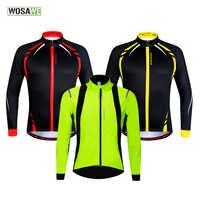 WOSAWE Männer Winter Thermische Fleece MTB Bike Fahrrad Radfahren Jersey Outdoor-Sport Lauf Jacke Mantel Radfahren Kleidung