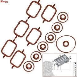20Pc For BMW E46 E53 E60 E61 E63 E64 E65 E66 E67 E70 E71 E72 E83 E90 E91 E92 E93 Intake Inlet Manifold Seal Gasket Repair Kit