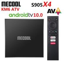 Mecool KM6 Android 10 ATV Smart TV Box Amlogic S905X4 AV1 2G/4GB RAM 16G/64GB ROM 2.4G 5G WiFi 6 Bluetooth 4K HD Media Player