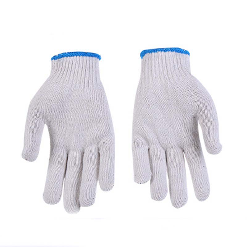 Encrypted Cotton Yarn Gloves Wear Gloves White Line Gloves Protective Labor Protection Gloves