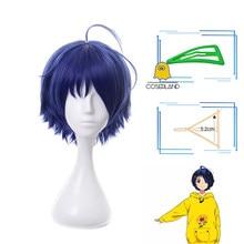Чудо-яйцо приоритет Ai Ohto Косплэй парик темно-синие короткие треугольная заколка для волос Синтетический термостойкий парик волос Для мужчи...