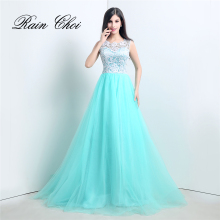 Real Photo Formal Prom Gown Elegant Long Evening Dresses