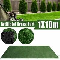 1x10m artificial sintético super denso grama falsa relvado plástico verde planta gramado jardim decoração