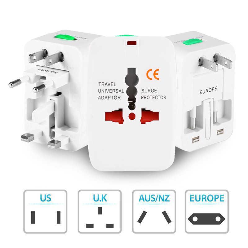 Универсальный адаптер питания для путешествий, адаптер питания переменного тока, преобразователь, универсальный, для США/Великобритании/Австралии/ЕС, 110-250 В, переходная розетка