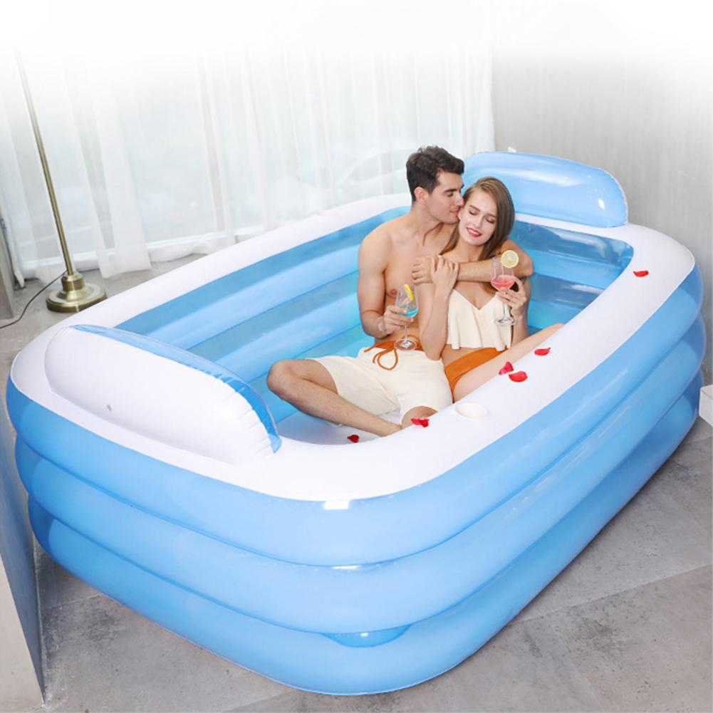 New Adult Inflatable Pool Double People Swimming Pool 3 Layers Outdoor Swimming Pool Baby Bathtub Water Play Gifts For Babies