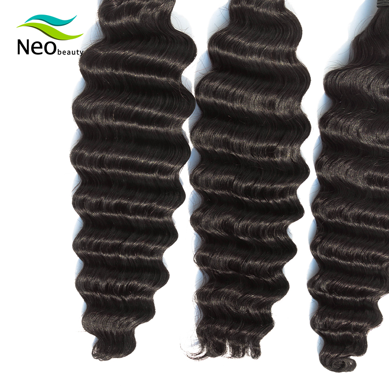Neobeauty  Loose Deep Wave Bundles Deals 1 3 4 Bundles 100% Human Hair Extensions Brazilian Hair 10 - 24  Inch Bundles virgin ha