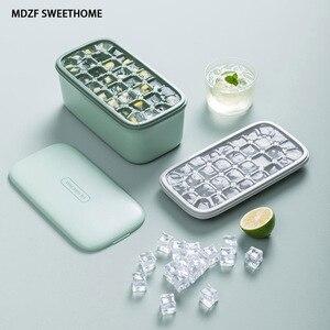 MDZF двойная форма для льда с коробкой для Хранения Мороженого, кремниевый бар, вечерние, для виски, холодного напитка, DIY формы для выпечки льд...