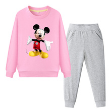 Children Clothing Boys Girls Clothes Autumn Mickey Sweatshirt and Pants Sport Suit Long Sleeve Baby Kids Clothes Sets Tracksuit