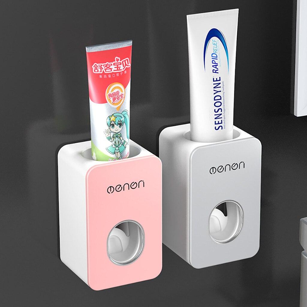 ใหม่ Automatic Toothpaste Dispenser ชุด Wall Mount Stand Holder Extrusion สะดวก Home อุปกรณ์ห้องน้ำ