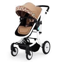 Baby Star Stroller with High Landscape Sitting Lying Folding and Shock Proof Children's Stroller Strollers
