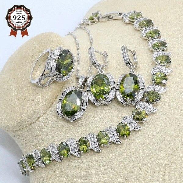 Olive Green Zircon 925...