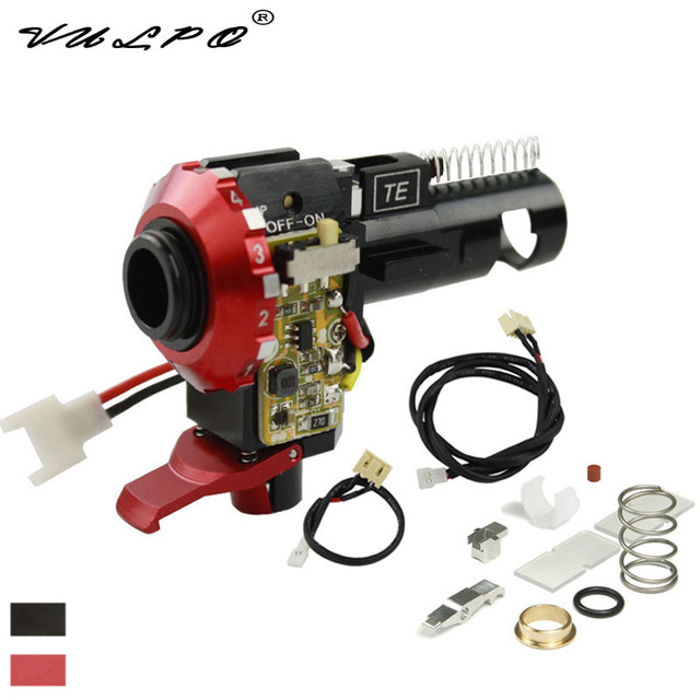 VULPO CNC Aluminum Alloy Hop Up Chamber With LED For Airsoft AEG Ver.2 Gearbox M4/M16 Hunting Accessories
