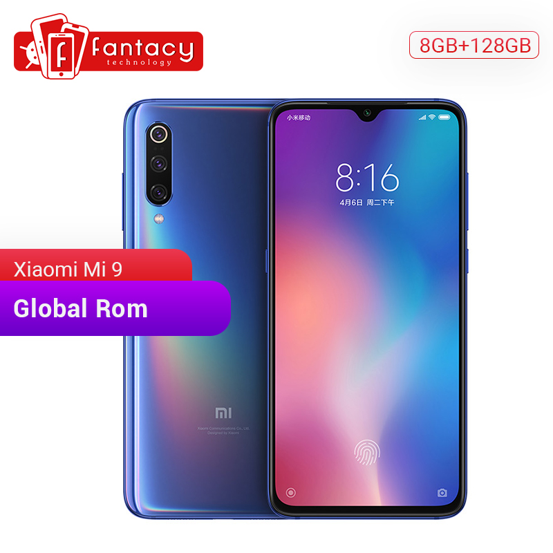 "Global ROM Xiaomi Mi 9 Mi9 8GB 128GB Snapdragon 855 Octa Core Mobile Phone 6.39"" 1080P AMOLED Smartphone 48MP Triple Cameras NFC"