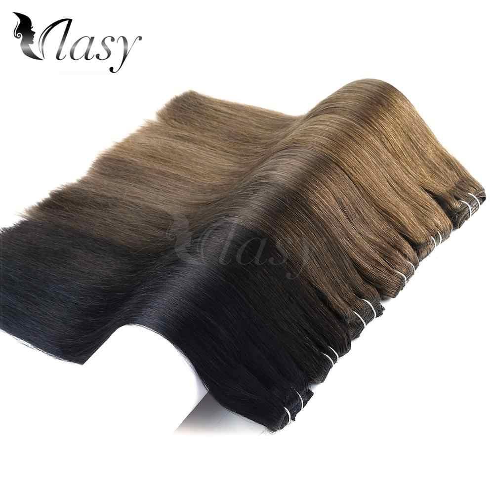 Vlasy 24 ''רמי קליפ ב תוספות 7 יח'\סט 16 קליפים ישר כפול נמשך מלא ראש סט קליפ שיער טבעי הרחבות 140 גרם\יחידה