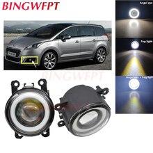 2PCS High power H11 LED Fog Lamps Angel Eye light with Glass len 12V  For Peugeot 5008 с 2009 — For Holden Commodore 2004-2007