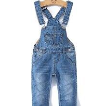 0-8T Spring Kids Overalls Slim Trousers Boys Girls Suspender Bib Denim Pants Kids Jeans Jumpsuit Clothes Children Clothing