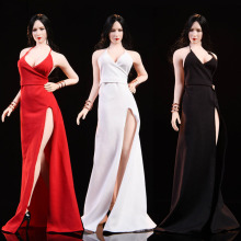 In stock WOOM TOYS C1901 1/6 Scale Sexy Female Clothes Ada Wong Dress set Model Red Carpet Evening Dress for 12'' Body