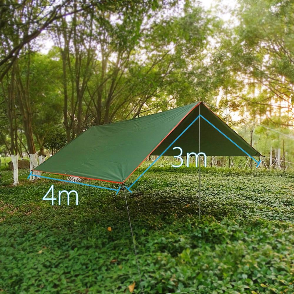 tonnelle Auvent imperméable de jardin ultraléger, pare-soleil de Camping en plein air, hamac touristique, abri solaire de plage, 4x3m 3x3m