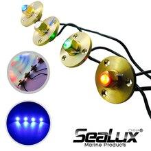 Sealux Brass drain plug LED light with base Bronze Garboard Marine Boat Yacht Screw Drain Plug 1 Inch Hole Fishing Under water