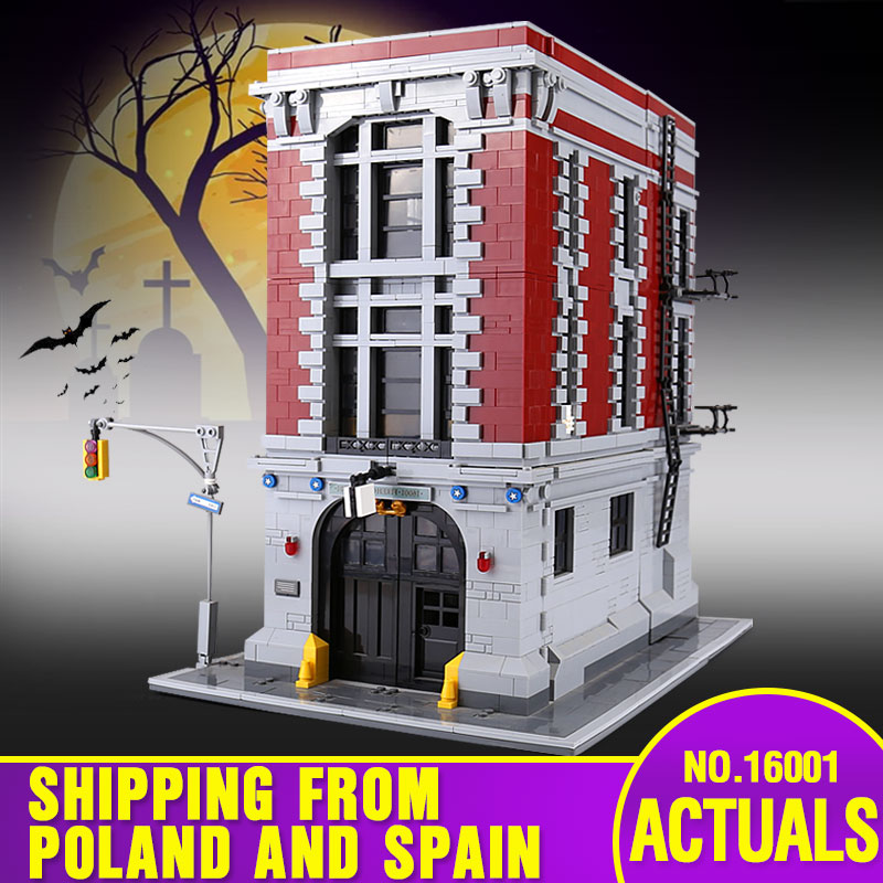 DHL 16001 Building Toys The Legoing 75827 Ghostbusters Firehouse Headquarters Set Building Blocks Bricks Assembly Kids Toys Gift