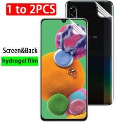 1-2pcs back hydrogel film on for Samsung Galaxy A01 A10 A10S A10e A11 M01 M10 M11 A 10E 10S M 01 10 11 screen protector no glass