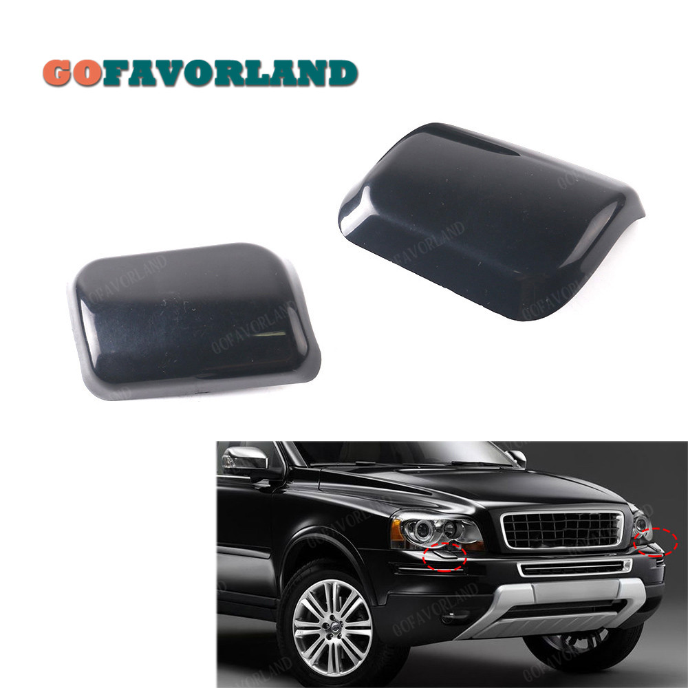 Pair Front Headlight Washer Nozzle Cover Cap Car Styling For Volvo XC90 2003 2004 2005 2006 30698208 30698209