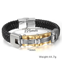 FXM LVP52 arrival fashion jewelry most popular bracelet for man birthday gift balck color colors good quality stainless steel