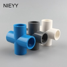 цена на 3pcs 20mm PVC Pipe Irrigation Cross Connector Pipe Water Hose Connector 1/2'' PVC Connector 4 way Connector Garden Accessories