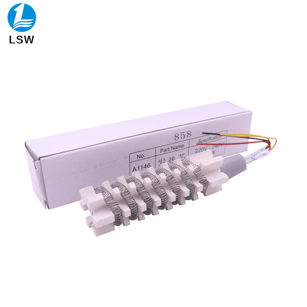 Hot Air Gun Heating Element Ceramic Heating Core 220V Heater For 8586 858 858D 858D+ 8858 8858D Heat Gun Rework Soldering Repair
