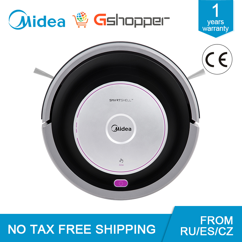 EU UK Plug Global Version Midea MR01 02 Robot Vacuum Cleaner Suction Mopping Sweeping Vacuuming Remote Control G-SLAM Navigation