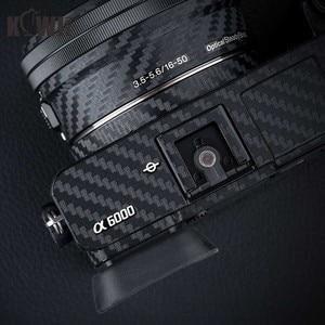 Image 5 - KIWIFOTOS Kamera Körper Abdeckung Carbon Faser Film Kit Für Sony A6000 + 16 50mm Objektiv Haut Anti  scratch Anti Slide Kameras 3M Aufkleber