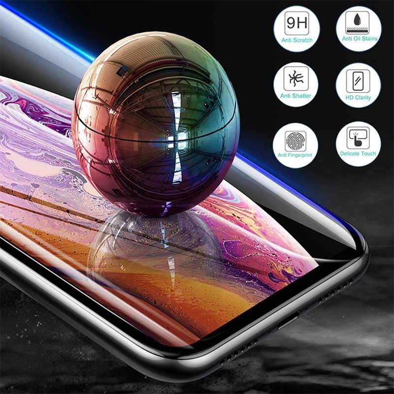زجاج مقسى لكاميرا آيفون 11 برو ماكس عدسة واقية زجاج ل 7 8 6 6S زائد 9D الهاتف حامي الشاشة ل آيفون X XR XS