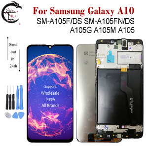 Image 1 - LCD + Frame For SAMSUNG Galaxy A10 2019 Display SM A105F/DS A105FN A105G A105M A105 LCD Screen Touch Sensor Digitizer Assembly