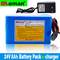 100 оригинальный литий-ионный аккумулятор 18650 24 в 8 Ач 8000 мАч батарея 25,2 в BMS электрический мопед/электрический велосипед/аккумулятор с зарядн...