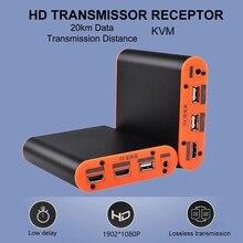 OPT882-KVM 20Km/66000Ft HD Launcher Receiver KVM Switcher 1080P 60Hz Ethernet Transceiver with HD USB Interface кабель kvm lenovo 3m msas hd to msas hd 00mj180