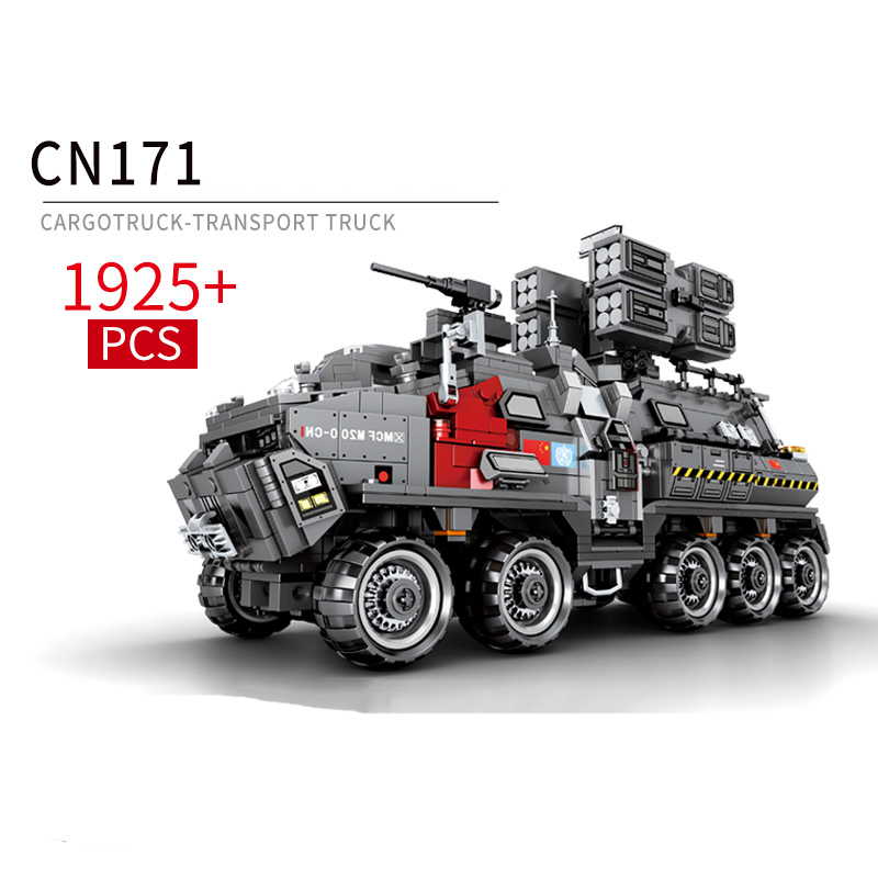 Movie The Wandering Earth 1925pcs CN171 Transport Vehicle Bricks Building Blocks Toys Compatible Technic Series Sets