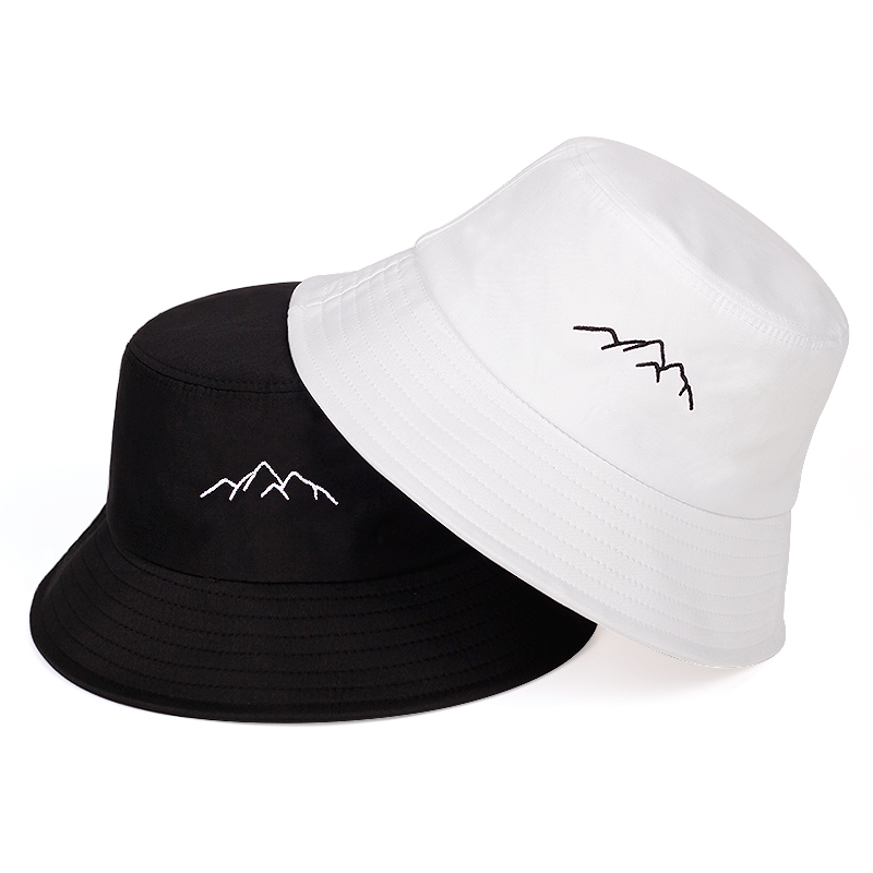 Primavera verão chapéu de pescador ao ar livre sombra balde chapéu de montanha bordado chapéu de algodão moda panamá chapéus de sol balde chapéu