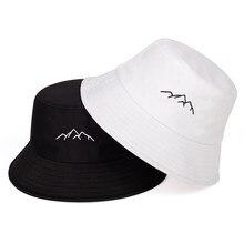 Wiosna lato kapelusz rybaka na zewnątrz zapewniający cień kapelusz typu bucket pasmo górskie haftowany kapelusz bawełniany kapelusz moda panama kapelusze przeciwsłoneczne kapelusz typu bucket