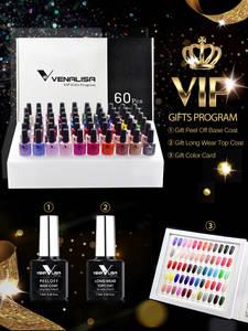 VENALISA Gel Varnish-Kits Polish Nail-Gel Salon Manicure Topcoat Uv LED Soak-Off-Base