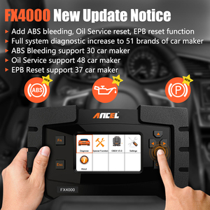 Image 2 - Ancel FX4000 Professional OBD 2 Automotive Scanner ABS EPB Oil Service Reset Full Systems OBD2 Car Diagnostic Tool Auto Scanner
